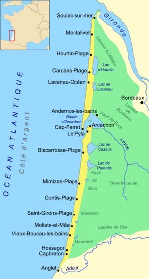 Карта Кот д\'Аржан, автор Larrousiney