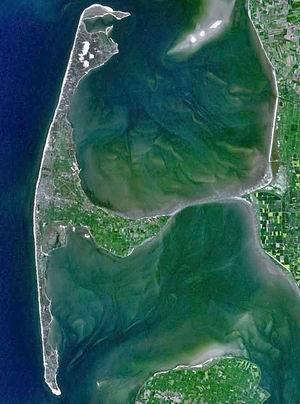 Остров Зюльт: вид из космоса