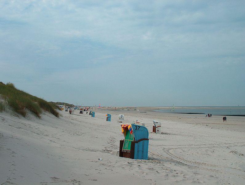 Пляж и дюны острова Амрум, Германия