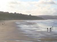 Пляж в Уитби