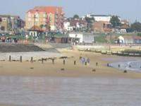 Клактон-он-Си, пляж
