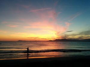 Пляж на полуострове Жьен