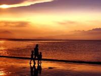 Закат на море - пляж