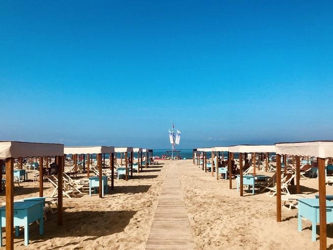 Пляж в Виареджио, Тоскана