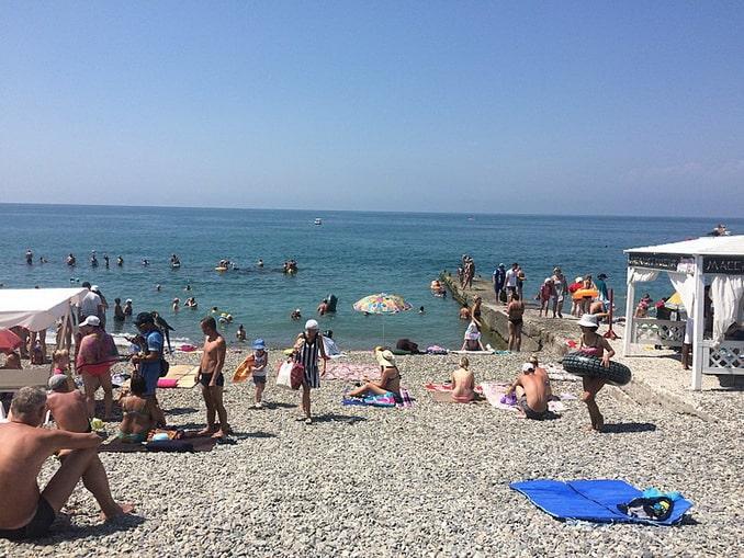 Чкаловский пляж в Адлере, фото Narek75