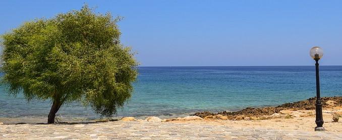 Дерево, фонарь, море - Кипр