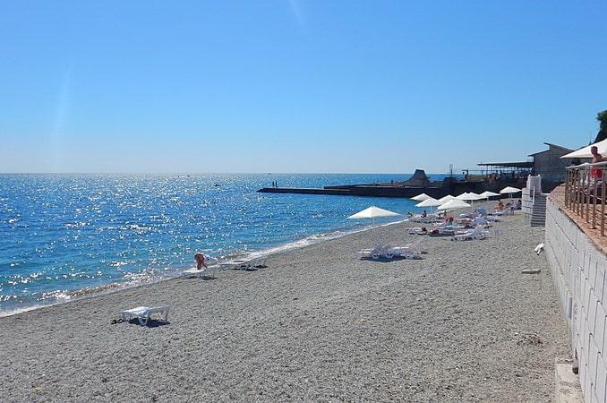 Пляж в Профессорский уголок, Алушта