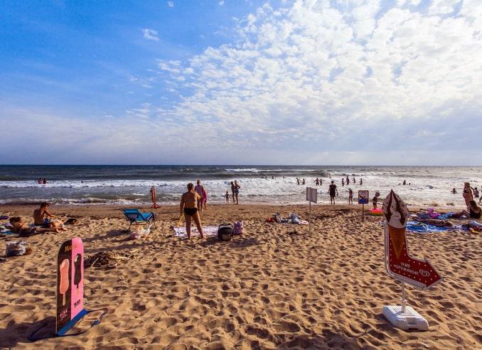 Пляж Золотой берег под Лермонтово