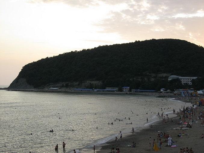 Пляж в Джубге, вечер, фото Андрей Грузде