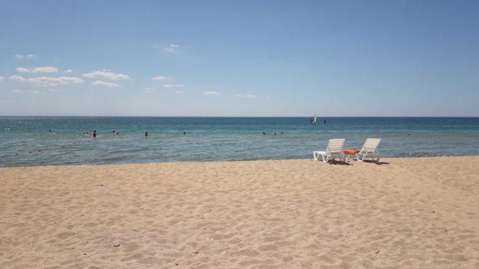 Заозерное, Крым, пляж