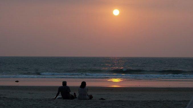 Гоа, закат на пляже