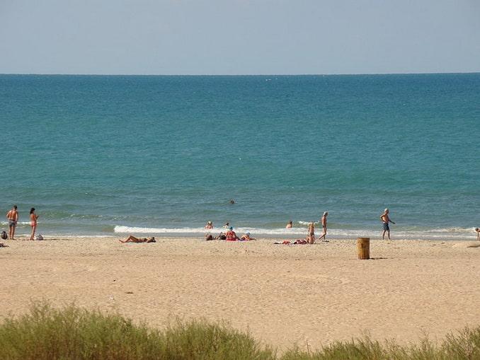 Витязево, дикий пляж