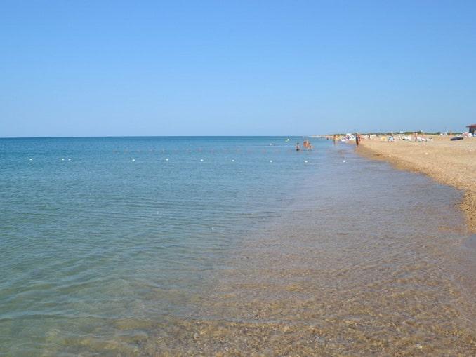 Море и пляж в Благовещенской