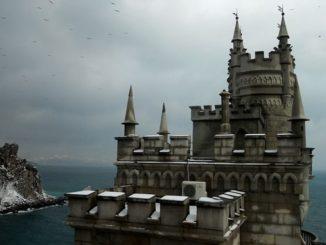 Крым, Ласточкино гнездо, зима