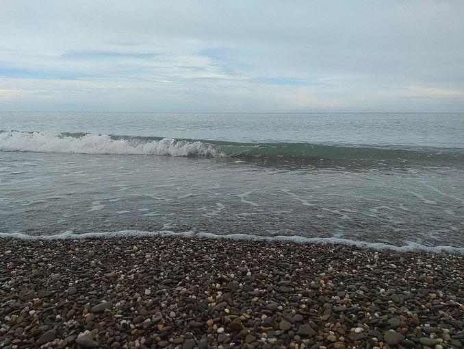 Море в Крыму, зима