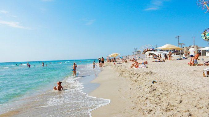 Пляж в Поповке