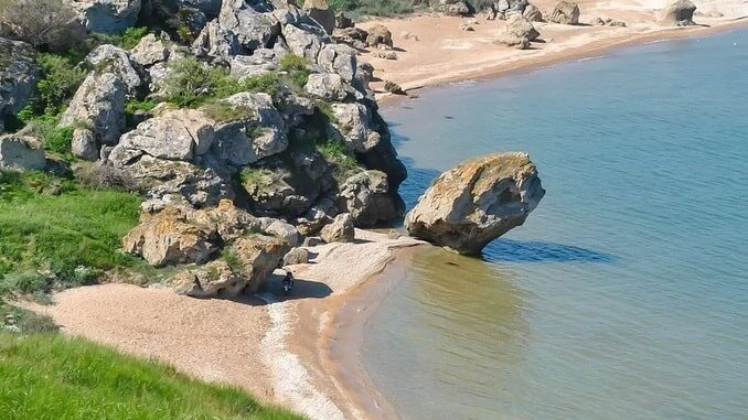 Курорт на Азовском море в Крыму