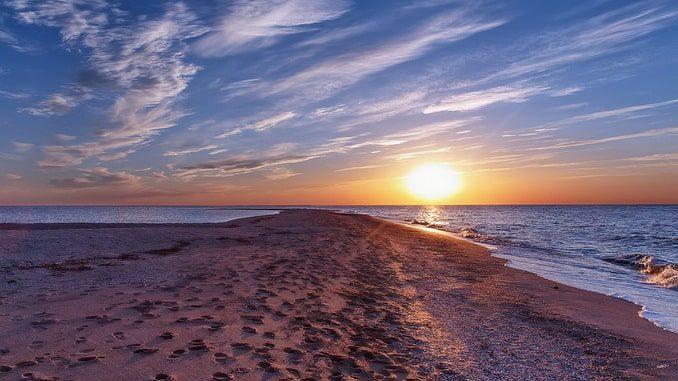 Азовское море, коса Долгая, фотоКозинцев