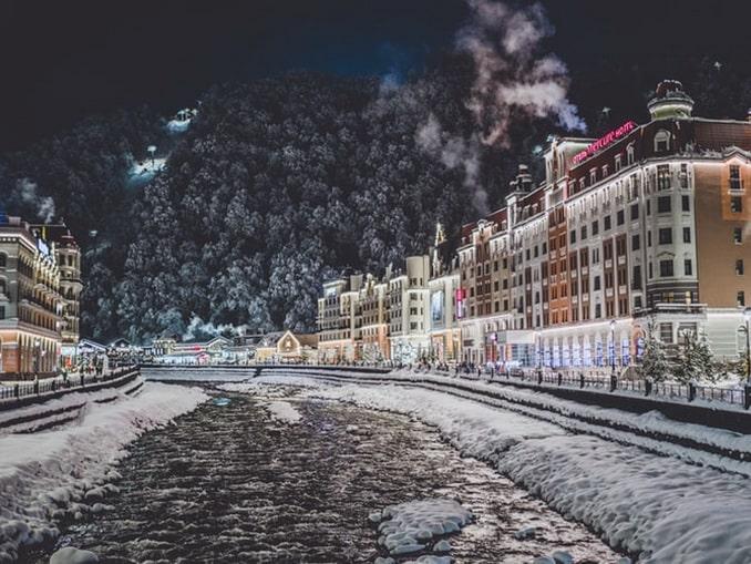 Красная Поляна, зима