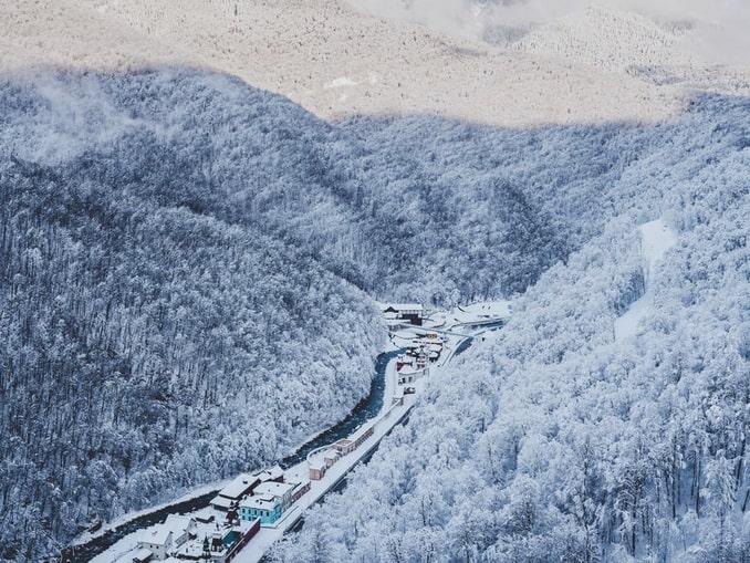 Красная Поляна, снег