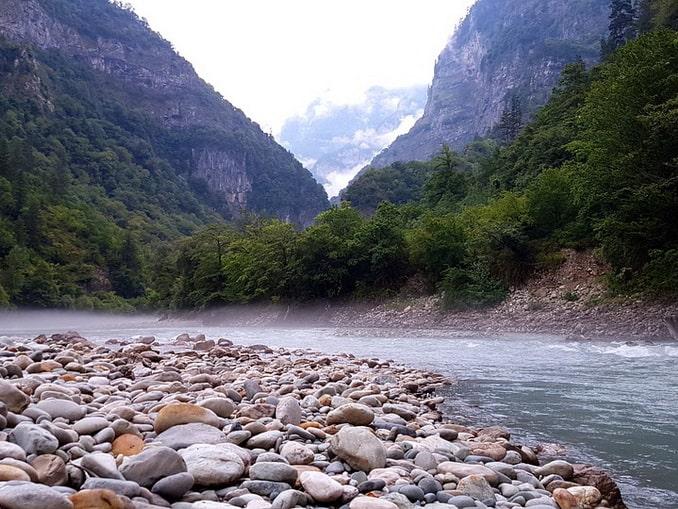Горные красоты в Абхазии