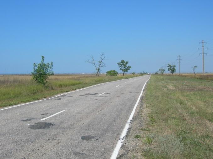 Дорога в Крыму, Евпатория
