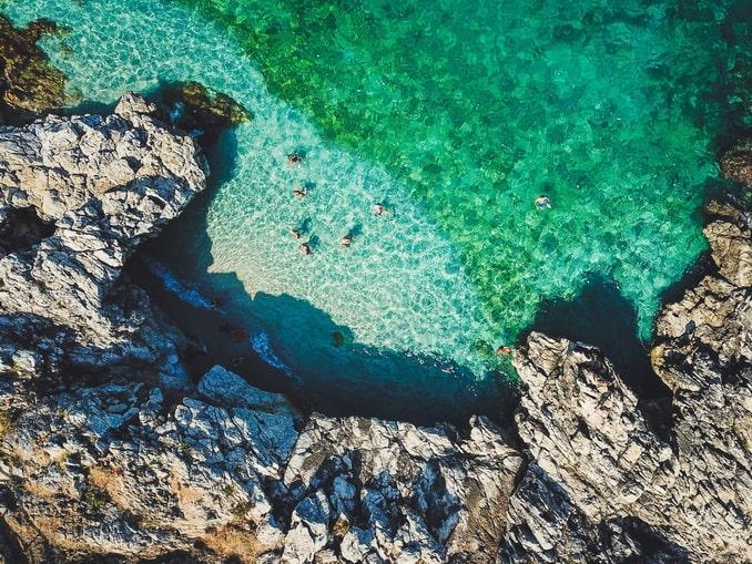 Сан-Вито-Ло-Капо, Сицилия, цвет моря