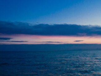 Закат в Сочи, декабрь