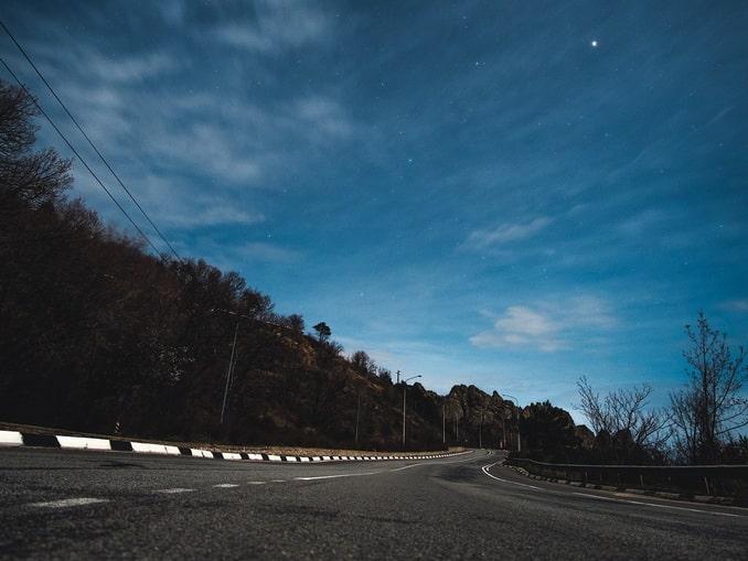 Крымская дорога, зима