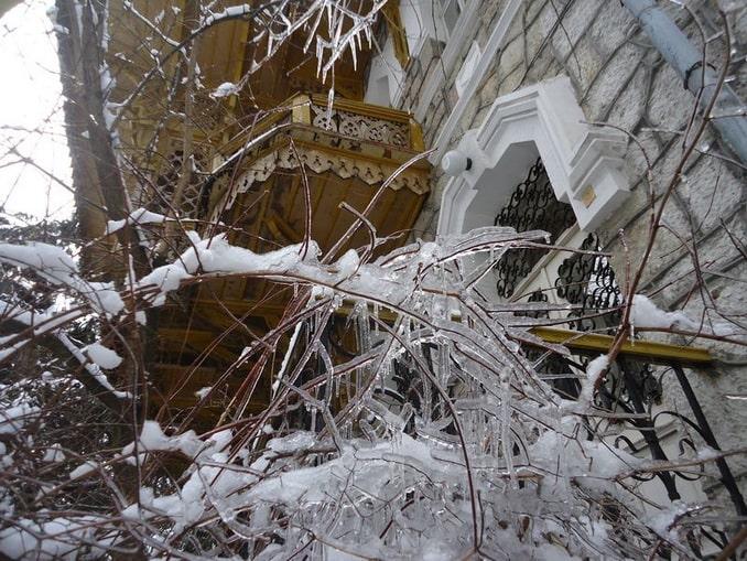 Зимняя Ялта, полуостров Крым