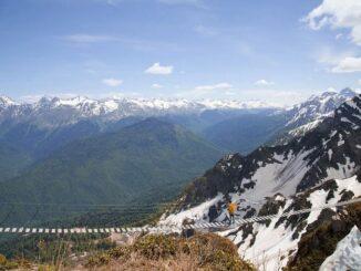 Горы, Сочи, весна