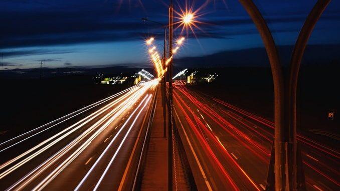 Дорога из Сочи в Крым, ночь