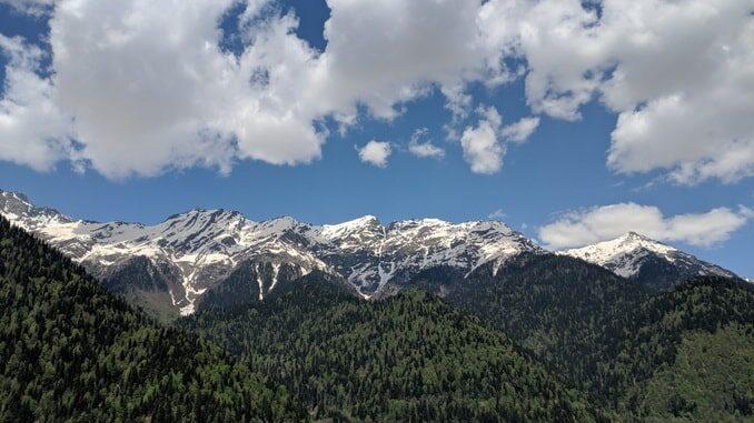 Абхазия в апреле, озеро Рица