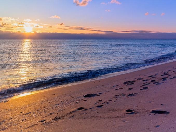 Закат на Черном море в Крыму