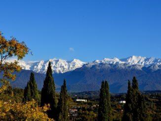 Горы в Абхазии в сентябре